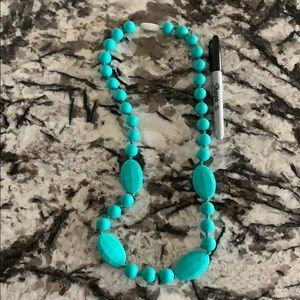 Rubber Turquoise Necklace